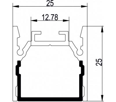 Накладной алюминиевый профиль H052