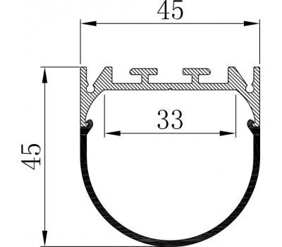 Накладной алюминиевый профиль H066