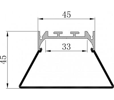 Накладной алюминиевый профиль H068