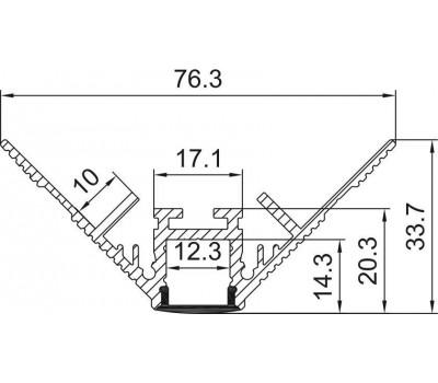 Безрамочный алюминиевый профиль B040