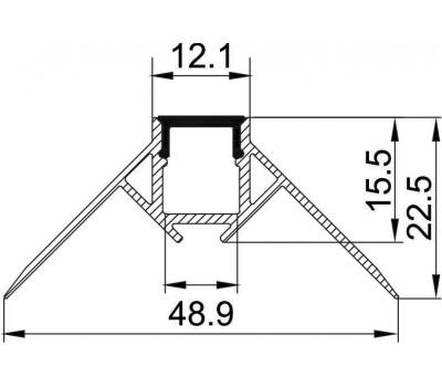 Безрамочный алюминиевый профиль B078